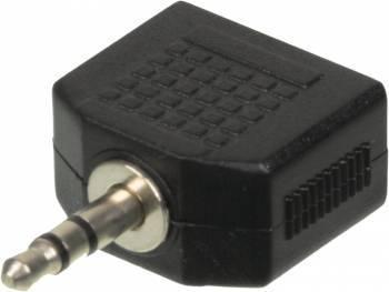 Адаптер Ningbo JAAA095-B 2xJack 3.5 (f) / Jack 3.5 (m)