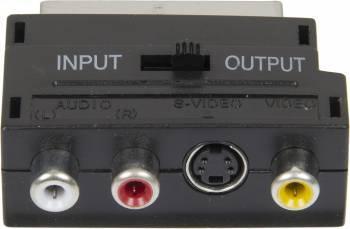 Адаптер Ningbo Scart (m)-S-video(f)+3xRCA тюльпан(f) черный