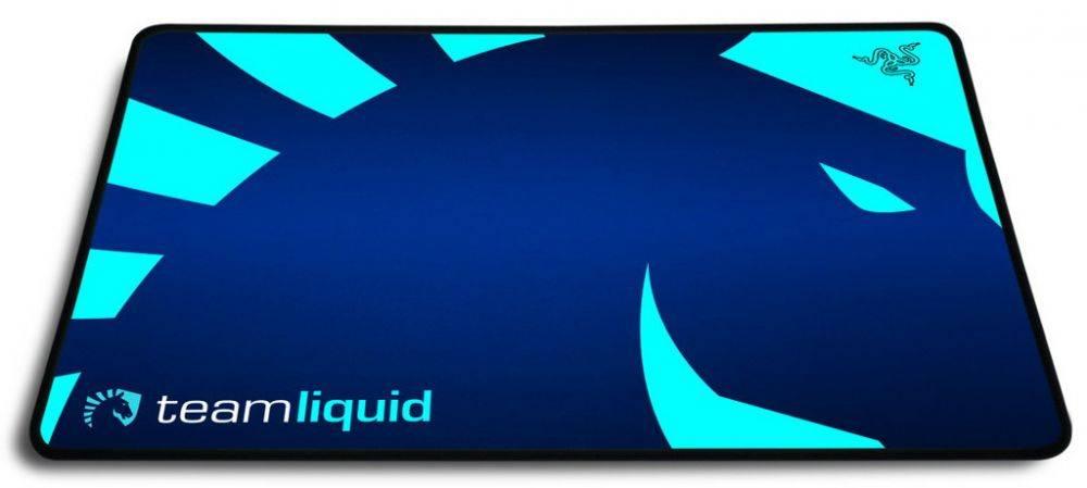Коврик для мыши Razer Goliathus Speed Standard Team Liquid синий/рисунок - фото 1