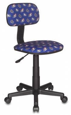 Кресло детское Бюрократ Ch-201NX/Moto-Bl, цвет обивки: синий мотоциклы Moto-Bl, ткань, крестовина пластиковая
