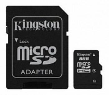 Флеш диск 8Gb Kingston DataTraveler +FC mSDHC 32Gb cl4 USB2.0 - фото 1
