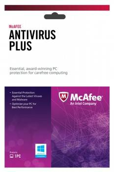 ПО McAfee AntiVirus Plus 2013 Intel Original 1 ПК 1 год Base Box (BXMAV1YRRUS 927707)
