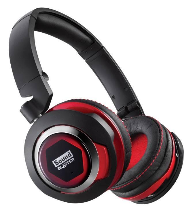 Наушники с микрофоном Creative Sound Blaster EVO черный/красный - фото 1