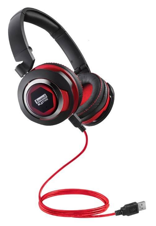 Наушники с микрофоном Creative Sound Blaster EVO черный/красный - фото 2