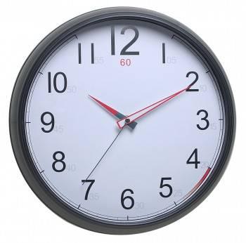 Настенные часы Бюрократ WallC-R08P черный (WALLC-R08P/BLACK)