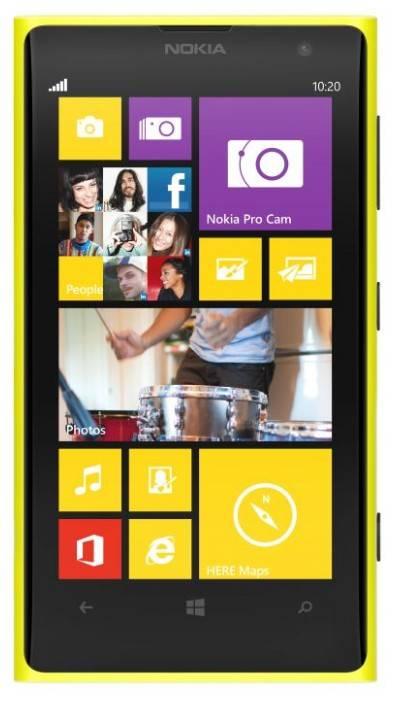 Смартфон Nokia Lumia 1020 желтый - фото 1
