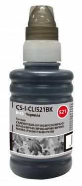 Чернила Cactus CS-I-CLI521BK черный 100мл для Canon Pixma MP540 / MP550 / MP620 / MP630 / MP640