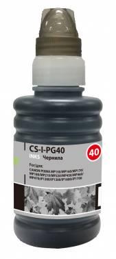 Чернила Cactus CS-PG40 черный 100мл для Canon Pixma MP150 / MP160 / MP170 / MP180 / MP210 / MP220