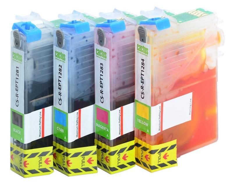 Картридж Cactus CS-R-EPT0925 черный/голубой/пурпурный/желтый - фото 3