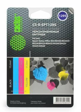 Набор картриджей Cactus CS-R-EPT1295 черный/желтый/голубой/пурпурный
