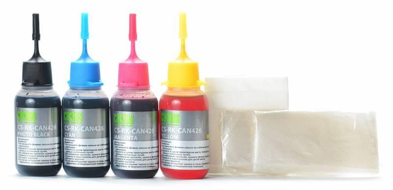 Заправка для ПЗК Cactus CS-RK-CAN426 многоцветный 4xфл. 30мл для Canon Pixma iP4840 - фото 3