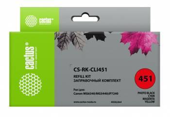 Картридж Заправочный набор Cactus CS-RK-CLI451