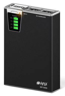 Мобильный аккумулятор HIPER MP10000 черный (MP10000 Black)