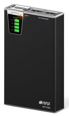 Мобильный аккумулятор HIPER MP12500 черный