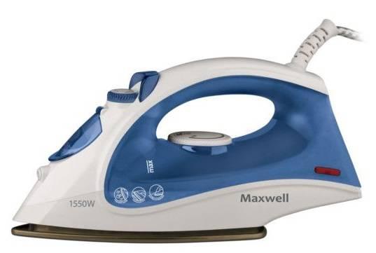 Утюг Maxwell MW-3013-01-B белый/синий - фото 1