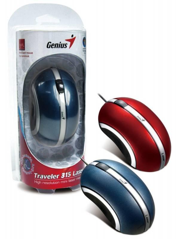 Мышь Genius Traveler 315 синий - фото 4
