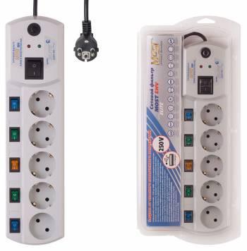 Сетевой фильтр Most EHV 5м белый (5М БЕЛ)