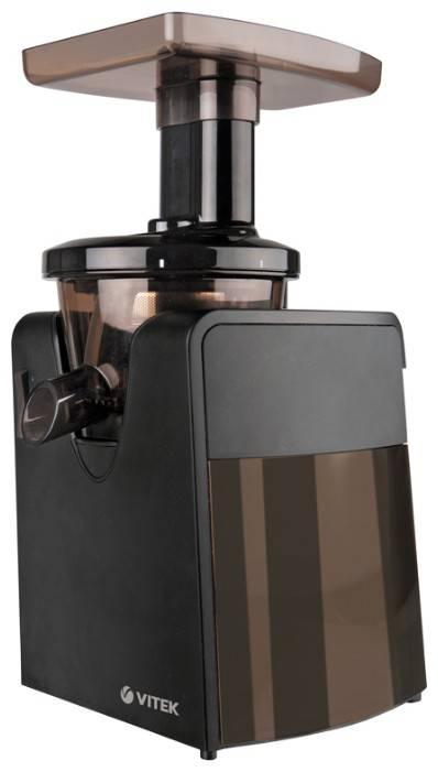 Соковыжималка шнековая Vitek VT-1608 черный/коричневый - фото 1