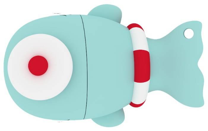 Флеш диск 8Gb Emtec M337 Sailor Whale USB2.0 голубой - фото 2