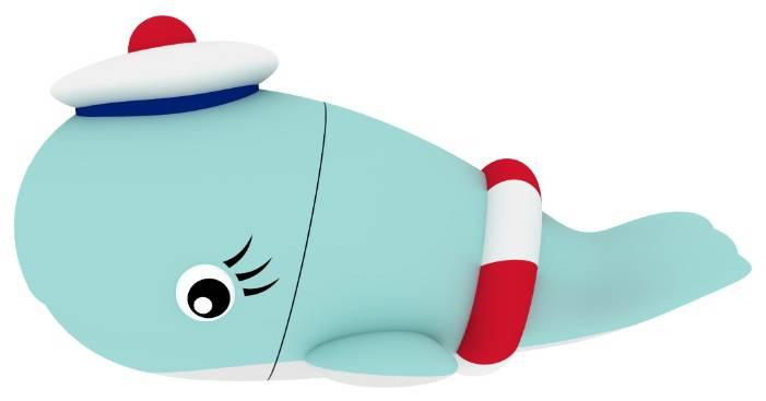 Флеш диск 8Gb Emtec M337 Sailor Whale USB2.0 голубой - фото 3
