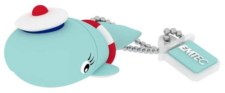 Флеш диск 8Gb Emtec M337 Sailor Whale USB2.0 голубой - фото 4