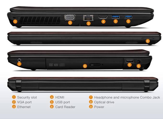 "Ноутбук 15.6"" Lenovo IdeaPad G580 темно-коричневый - фото 5"