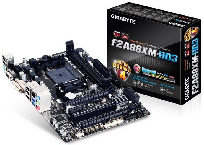 Материнская плата Soc-FM2 Gigabyte GA-F2A88XM-HD3 mATX - фото 1
