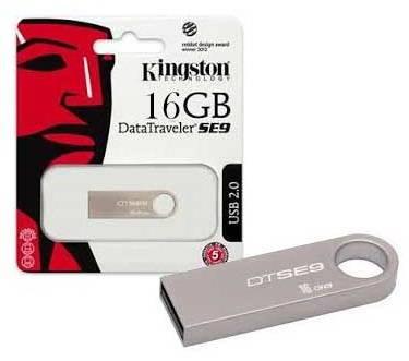 Флеш диск 16Gb Kingston DataTraveler SE9 USB2.0 серебристый - фото 2
