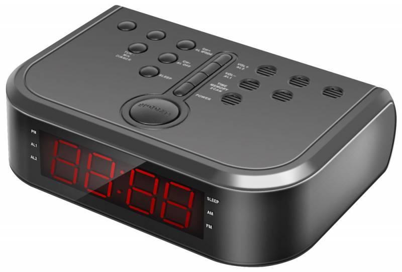 Радиобудильник Rolsen CR-110 черный - фото 1