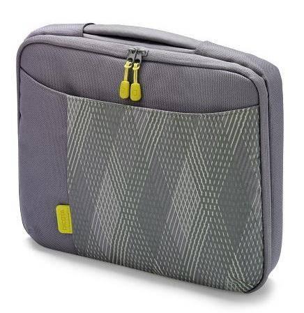 """Сумка для ноутбука 11.6"""" Dicota Bounce Slim серый/желтый - фото 1"""