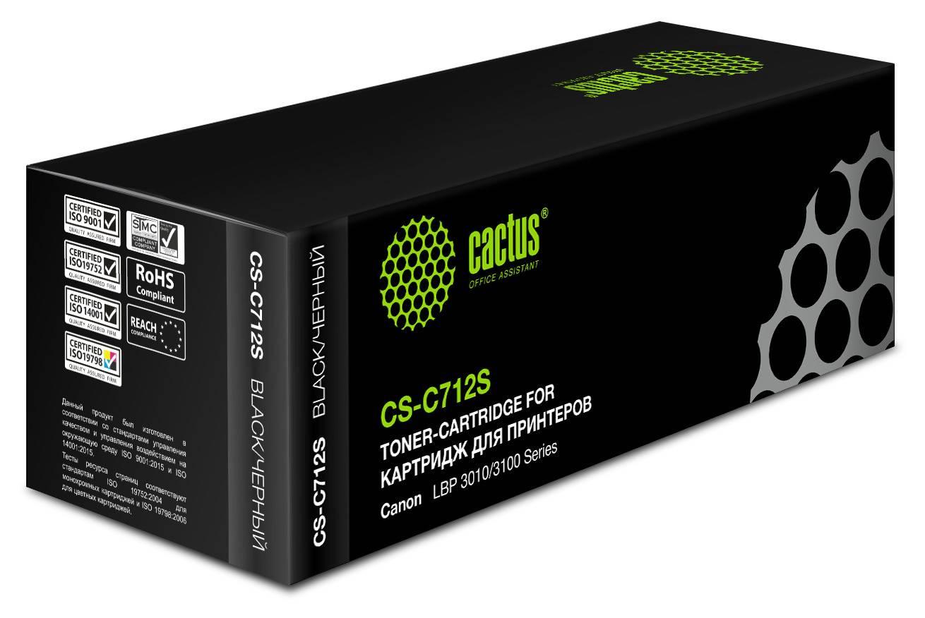 Тонер Картридж Cactus CS-C712S черный - фото 2