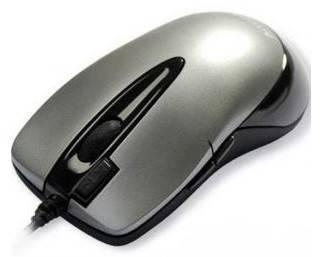 Мышь A4 X6-55D серебристый/черный - фото 1