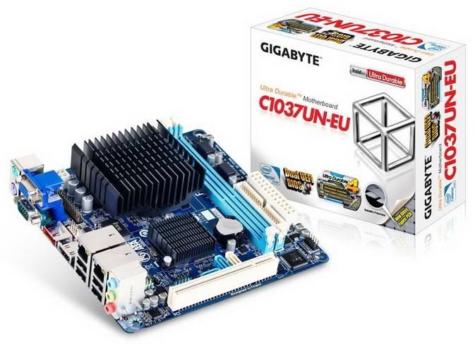 Материнская плата Gigabyte GA-C1037UN-EU  mini-ITX Ret - фото 1