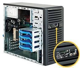 Корпус SuperMicro CSE-731D-300B 300 Вт черный