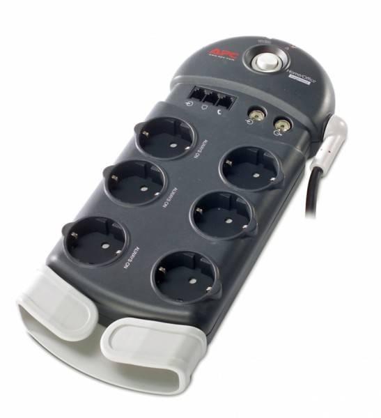 Сетевой фильтр APC PH6VT3-RS 2.44м серый - фото 1