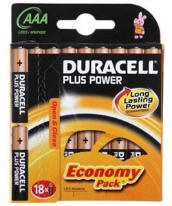 Батарея AAA Duracell Basic LR03-18BL (18шт)