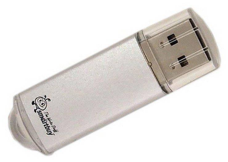 Флеш диск SmartBuy V-Cut 64ГБ USB2.0 серебристый - фото 1