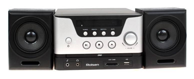 Микросистема Rolsen RMD-100 черный/серебристый - фото 1