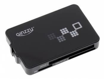 Картридер USB2.0 Ginzzu GR-426B черный