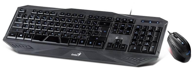 Комплект клавиатура+мышь Genius KM-G230 черный/черный - фото 1