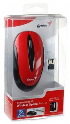 Мышь Genius NS-6010 черный/красный - фото 2