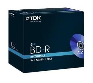 Диск BD-R TDK 25Gb 4x (5шт) (t78008) - фото 1