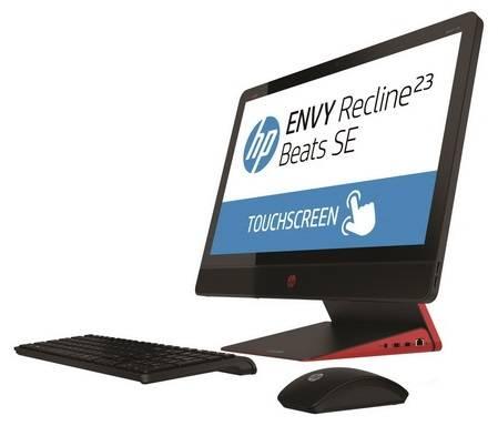 """Моноблок 23"""" HP Envy Recline Beats SE 23-m102er черный/красный - фото 1"""