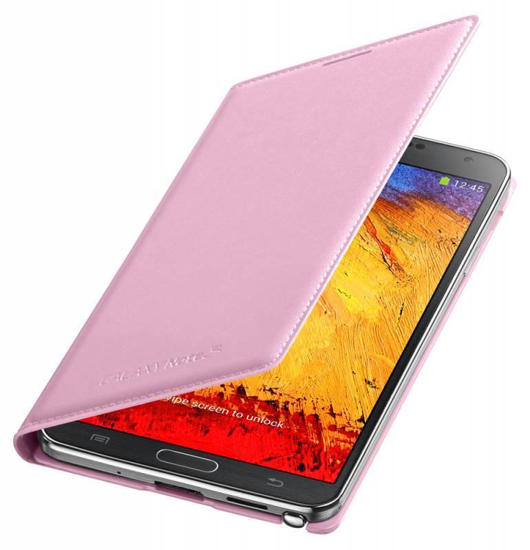 Чехол (флип-кейс) Samsung Flip Wallet (EF-WN900BIEGRU) розовый - фото 2