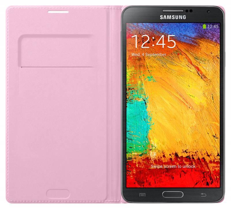 Чехол (флип-кейс) Samsung Flip Wallet (EF-WN900BIEGRU) розовый - фото 3