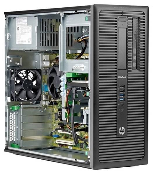 Системный блок HP EliteDesk 800 G1 MT черный - фото 5