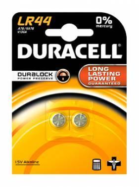 Батарея LR44 Duracell LR44-2BL (2шт)