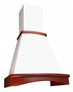 Каминная вытяжка Elikor Ротонда 60П-650-П3Л бежевый / бук светло-коричневый
