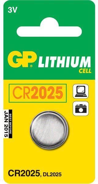 Батарея CR2025 GP Lithium CR2025 (1шт. уп) - фото 1
