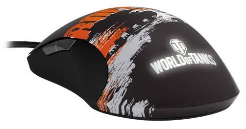 Мышь Steelseries World of Tanks Roll Out черный/оранжевый - фото 4